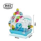 DZL jaula para hamster29.5X29.5X38CM) color azul?purpura y rojo indica color preferido, si no, el color de la entrega a azar