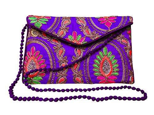 Kreuz Frauen Handtasche Körper Sling Indische Tasche Stilvolle Lila Kollektion Neue Gestickte qI7gXw