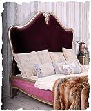 Schönes Bett/Ehebett/Doppelbett/Schlafzimmerbett/Maxibett mit lieblichem und extravaganten Schnitzereien aus Holz und zudem im angesagten französischen Landhaus-Stil – Palazzo Exclusive - 2