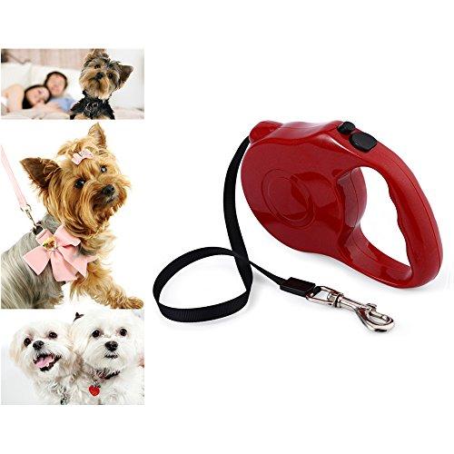 Harnais pour chiens Puluz sangle de poitrine réglable pour Gopro hero5/4 session/4/3 +/3/2/1 Red