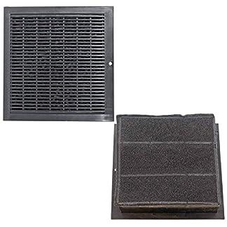 SPARES2GO CARBFILT8 – Filtros cuadrados de ventilación para campana extractora B&Q/CATA/Cooke y Lewis/Designair (2 unidades)