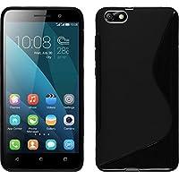PhoneNatic Case für Huawei Honor 4x Hülle Silikon schwarz S-Style + 2 Schutzfolien