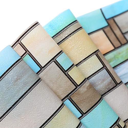 Velimax pellicola statica per finestre no-adesivo con copertura colorata con brick design pellicola per casa bagno soggiorno cucina 90x200cm
