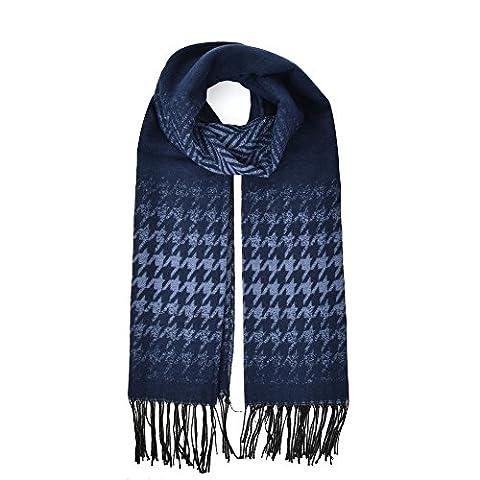 Femmes d'hiver Hirondelle à préparer écharpe châle épais - bleu - bleu marine,