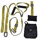 oudan Suspension Trainer Träger mit Griffe, Training Kit für Home Gym Workout Crossfit Training MMA, dunkelgrün