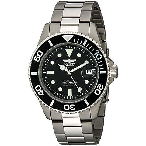 Invicta 0420 - Reloj de cuarzo para hombres, color plata