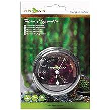 ReptiZoo Thermo Hygrometer RHT101 - Termometro e igrometro analogico per rettili, permette di controllare temperatura ed umidità nel terrario - Vasca Idromassaggio Termometro