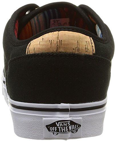 Vans ATWOOD Herren Sneakers Schwarz (10 Oz Canvas/black/blanket)