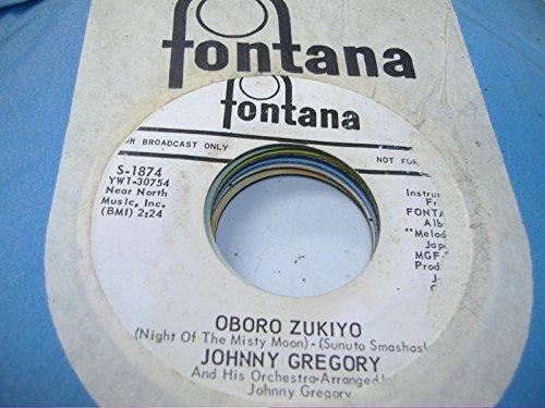 JOHNNY GREGORY 45 RPM Oboro Zukiyo / Seikurabe (Growing Up)