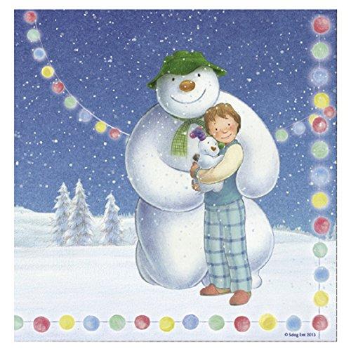 Veka bébé products-the Bonhomme de neige & Snowdog Serviettes 33 cm - pk18