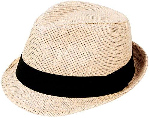 Design-fedora-hut (Fashion Design Fedora Trilby Hut kurze Krempe Sommer Gap verschiedenen Farben–Große für Väter Tag)