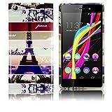 Wiko Highway Star 4G LTE Silikon Schutz-Hülle Instagram Paris Eiffelturm weiche Tasche Cover Case Bumper Etui Flip smartphone handy backcover thematys®