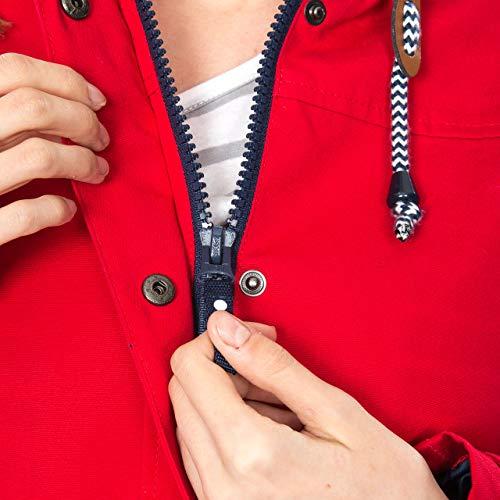 Trespass Seawater, Red, XXS, Wasserdichte Jacke für Damen, XX-Small / 2XS / 2X-Small, Rot - 4