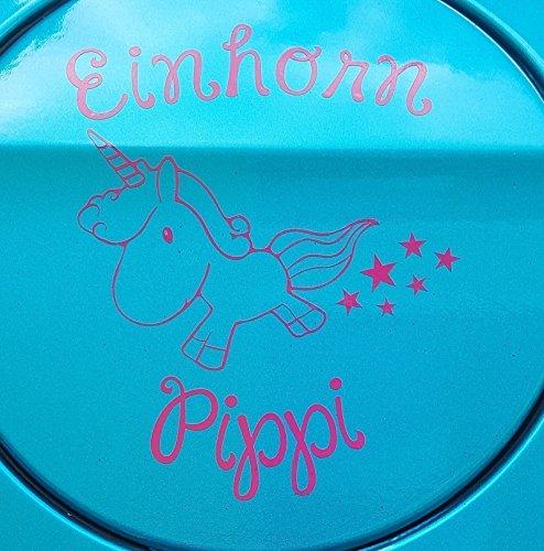 Aufkleber brandneu Einhorn Pippi 11cm (1 Pink)
