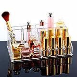 #1: Bulfyss Premium Makeup Cosmetics Organizer Acrylic Display Lipstick Organiser - 16 Sections - Valentine Gift