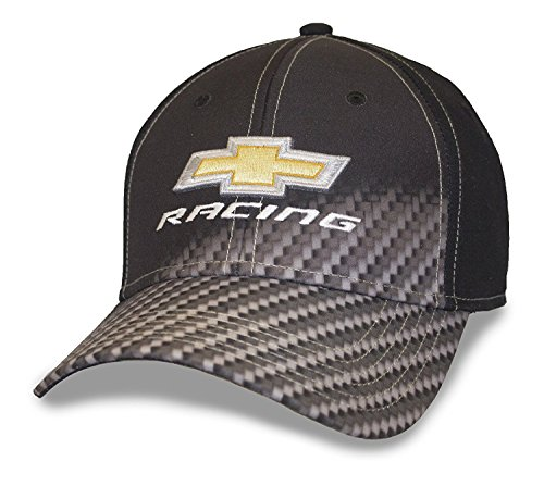 Chevrolet Blk Carbon Fiber Fade Racing Cap (Flex-fit Cotton Cap Twill)