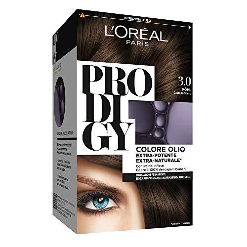 L'Oréal Paris Colorazione Permanente per Capelli Prodigy, 3.0 Kohl Castano Scuro