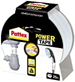 Pattex Power Tape Reparatur-Klebeband in Box, 25 m, Weiß