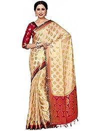 [Sponsored]Mimosa By Kupinda Women's Crepe Saree Kanjivaram Style (Latest Designer Sarees /Party Wear Sarees /New Collection... - B074JCYBCS