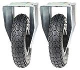 Ruedas neumáticas de 200 mm de 2 a 8 pulgadas, 2 ruedas fijas (200x50) inflado bombeado