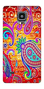 Go Hooked Designer Samsung Galaxy Note 4 Designer Back Cover | Samsung Galaxy Note 4 Printed Back Cover | Printed Soft Silicone Back Cover for Samsung Galaxy Note 4