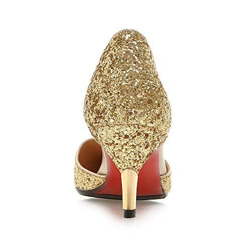 Cuckoo Damen Pailletten D'orsay High Heels Gold
