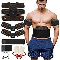 Koooper 15 Niveaux Electrostimulateur Musculaire, Abdominal Muscle Stimulateur EMS - Chargement USB - Offrir 3 Courroie de Support - Ventre/Cuisse/Bras Massage Ceinture Hommes Femmes