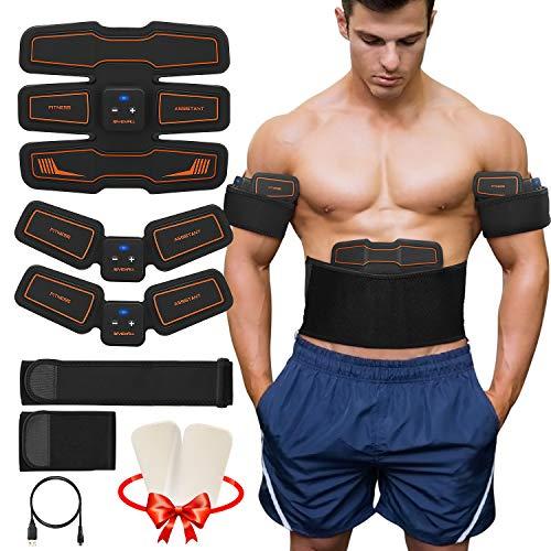 Koooper Electroestimulador Muscular, Músculos Abdominales, 6 Modos de Simulación, 15 Niveles Diferentes, para Abdomen/Cintura / Pierna/Brazo de Hombre y Mujer