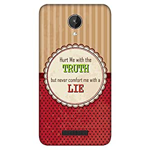 Bhishoom Designer Printed Back Case Cover for Micromax Canvas Spark Q380 (Truth Over Lie :: Polka Dots :: Typography :: Stripes :: Motivational)