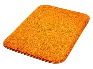 Tapis de bain 50x80 cm orange 100% coton