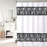 Cortinas de ducha blancas del tamaño del patrón de la cebra Cortinas de ducha del tamaño de los 200 * 200cm ( Tamaño : 150*180cm )