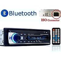 PolarLander la Radio de Coche de Audio USB/SD / MP3 Receptor Bluetooth Manos Libres con Control Remoto Negro 1 DIN