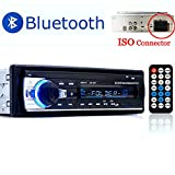 PolarLander Autoradio Bluetooth, Autoradio Bluetooth Freisprecheinrichtung, Digital Media-Receiver, Autoradio Audio USB/SD/AUX/ MP3-Player Receiver mit Fernbedienung schwarz 1 Din