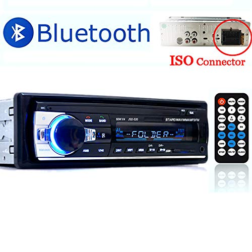 o Bluetooth, Autoradio Bluetooth Freisprecheinrichtung, Digital Media-Receiver, Autoradio Audio USB/SD/AUX/ MP3-Player Receiver mit Fernbedienung schwarz 1 Din ()