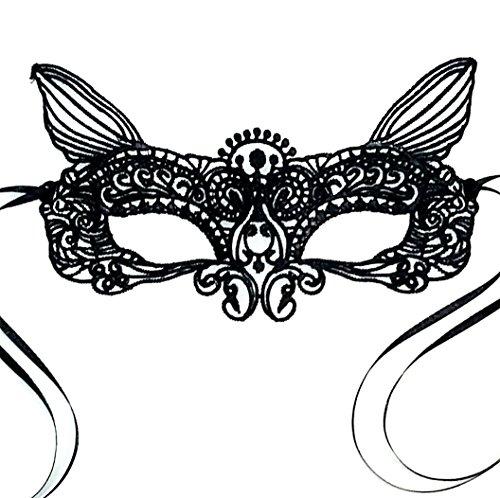 Wunderschöne, weiche Spitze Damen Schwarz Katze