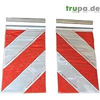 Orafol 2x Bandera de advertencia 250x 400mm ladeb ordwand Plataforma elevadora Marcar Izquierda + Derecha