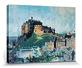 1art1 103198 Schlösser & Burgen - Edinburgh Castle Midday, Colin Ruffell Poster Leinwandbild auf Keilrahmen 40 x 30 cm