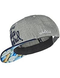 Nebelkind Snapback Cap Grey with Blue Brim and Pills Pattern OneSize Unisex f182f41767b4