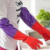 HOKIPO® Reusable Latex Hand Gloves for Kitchen