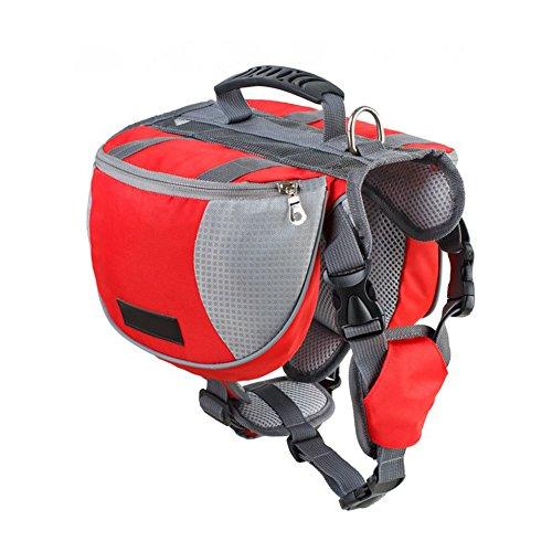 rokoo Professional Outdoor Hunde Rucksack reisen Training Schnellentriegelung, Satteltasche