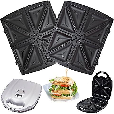 1 Satz Sandwichplatten passend für Syntrox Chef Maker ZN-2000W und Efbe Schott Zaubernuss ZN 800 XXL