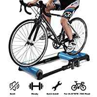 حامل مدرب الدراجة ، مدرب تربو ، أسطوانات الدراجة القابلة للطي داخلية للدراجات الهوائية المدحاة MTB محطة تمارين اللياقة البدنية للدراجات الهوائية 24-29 بوصة الرئيسية ركوب الدراجات
