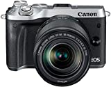 Canon EOS M6 Systemkamera (24,2 Megapixel, 7,62 cm (3 Zoll) Display, Full-HD, APS-C CMOS-Sensor, DIGIC 7 Bildprozessor) Kit inkl. EF-M 18-150mm 1:3,5-6,3 IS STM Objektiv silber