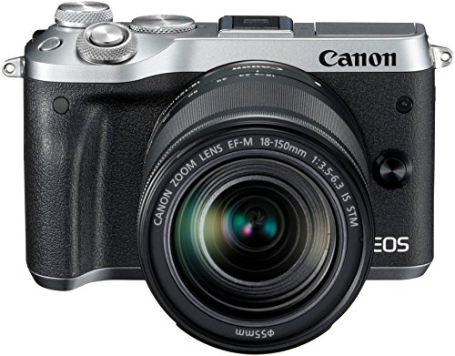Canon EOS M6 Systemkamera (24,2 Megapixel, 7,62 cm (3 Zoll) Display, Full-HD, APS-C CMOS-Sensor, DIGIC 7 Bildprozessor) Kit inkl. EF-M 18-150mm 1:3,5-6,3 IS STM Objektiv silber