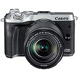 Canon EOS M6 Systemkamera (24,2 Megapixel, 7,62 cm (3 Zoll), APS-C CMOS-Sensor, DIGIC 7 Bildprozessor, Full-HD) Kit inkl. EF-M 18-150mm 1:3,5-6,3 IS STM Objektiv silber