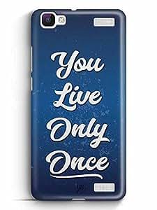 YuBingo You Live Only Once Designer Mobile Case Back Cover for Vivo V1 Max