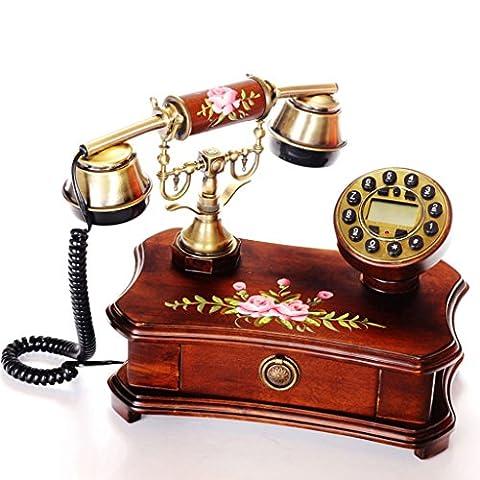 CHENGYI Festes hölzernes europäisches Retro- örtlich festgelegtes Telefon-Innenministerium-Telefon-Art- und Weisekreative Geschäfts-Festnetz
