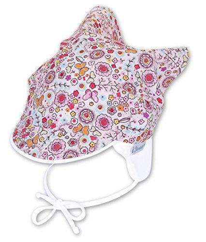 Sterntaler Baby - Mädchen Mütze Kopftuch, Gr. 39 cm, Rosa (magenta 745.0)