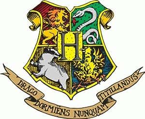 """Harry Potter Hogwarts Crest Cartoon Car Bumper Sticker Decal 5""""x 4"""""""