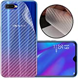 Case Creation Ultra Thin Slim Fit 3M Clear Transparent 3D Carbon Fiber Back Skin Rear Screen Guard Protector Sticker Protective Film Wrap Not Glass for Oppo K1 (Carbonn)